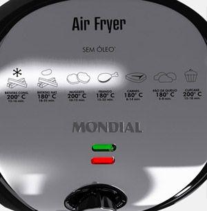Fritadeira Elétrica Mondial Air Fryer Premium AF-01 (Não Necessita Óleo*) - Preto/Inox - Fritadeiras no Extra.com.br