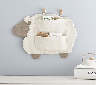 Felted Lamb Nursery Wall Storage #pbkids