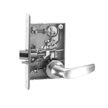 Sargent 8204 LNB 26D Storeroom or Closet Mortise Lock LN Rose B Lever
