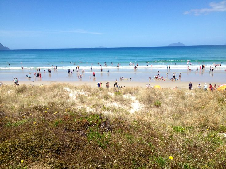 The day after New Years holiday crowds at Ruakaka beach