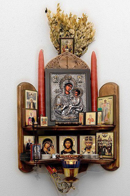 Beautiful Russian. Home Altar.