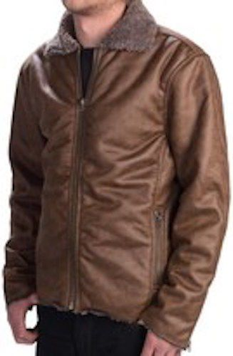 NEW True Grit Men's Vintage Moto Zipper Faux Fur Lined Jacket L $270! NWT  | eBay