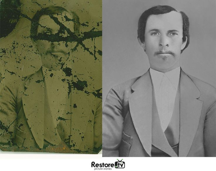 Before and after pohot restoration work at restore.tv #love #photography #photo #repair #genealogy #ancestry #family #history