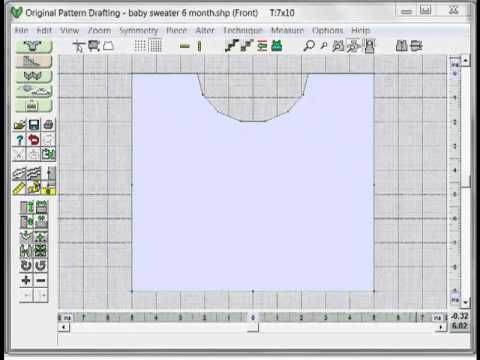 8 DAK8 Garment shape from a Schematic Drawing