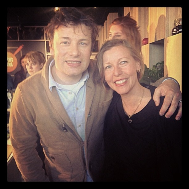 Jamie Oliver and I. Here he is visiting Stockholm. Great fun to get a pic with him. #jamieoliver #scandic