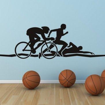 Triathlon Athletics Wall Art Sticker Wall Decals - Sports & Hobbies