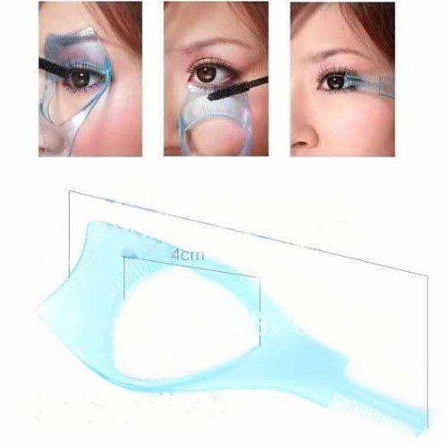 MAKEUP tools Mascara Guide Applicator Plastic Eyelash Comb/eyelash curler