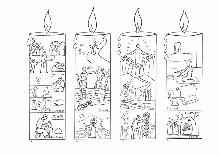 24 Advent Wreath Coloring Page in 2020 | Advent coloring ...