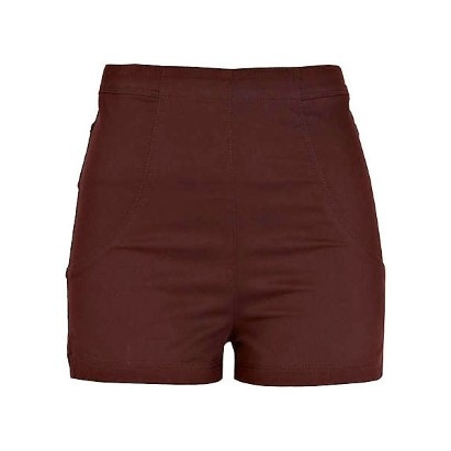 Korte benen  Vrouwen met korte benen die ze optisch langer willen doen lijken, doen er goed aan om zich een kort shortje met hoge taille aan te schaffen. Combineer met een (slee)hak en die killer legs zijn helemaal van jou.  Foto: short River Island - 31 euro