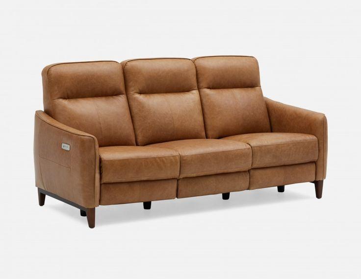 Best Palmer Caramel 100 Leather Power Recliner Sofa Structu 400 x 300