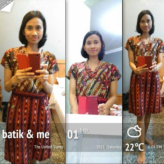 Batik tulis Lasem 3 Negeri + tenun troso Jepara (Rosary Batik by Felisia Iswara)