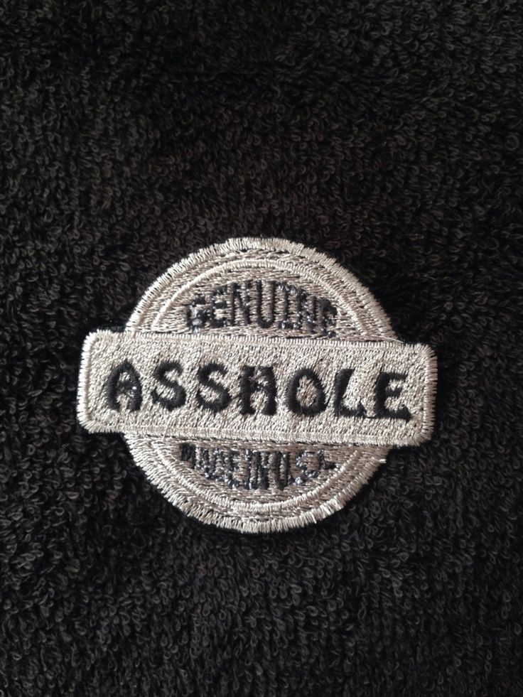 Custom patch motorcycle Harley jacket Asshole USA adult humor embroidery silver black color honda buell motorbike bike leather vest by LaurynandLuca on Etsy