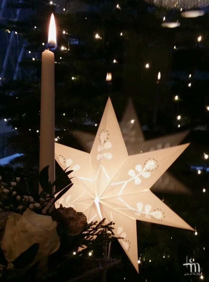 xmasstar and candlelight