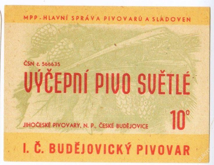 PEMD 1 ks stará etiketa VÝČEPNÍ PIVO SVĚTLÉ MPP (6395954918) - Aukro - největší obchodní portál