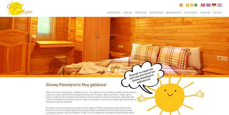 Güneş Pansiyon'un web sitesi, mobil uyumlu olarak ajansweb imzası ile yenilendi! http://gunespansiyon.com/