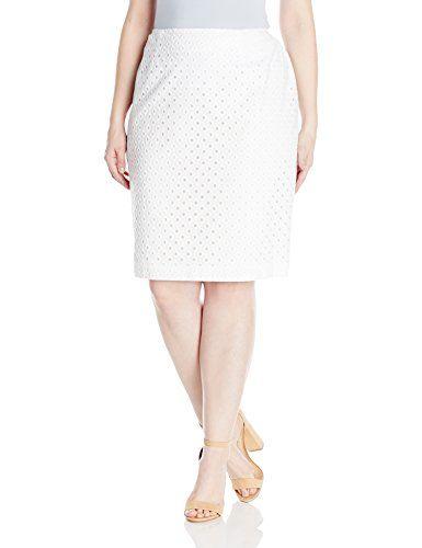 Desi Nine West Women's Plus-Size Eyelet Skirt