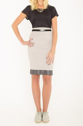 Mardle - Silver Spoon pencil skirt
