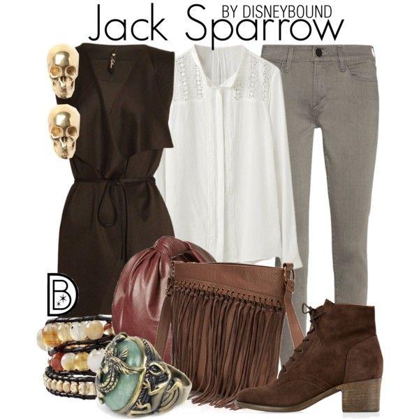 Jack Sparrow by leslieakay on Polyvore featuring polyvore, fashion, style, Frame Denim, Monsoon, Sonoma life + style, LeiVanKash, Cara, disney, disneybound and disneycharacter