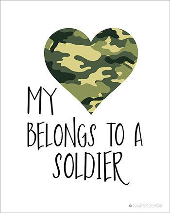 Army Girlfriend My Heart Belongs to a Soldier by alwaysyesterday