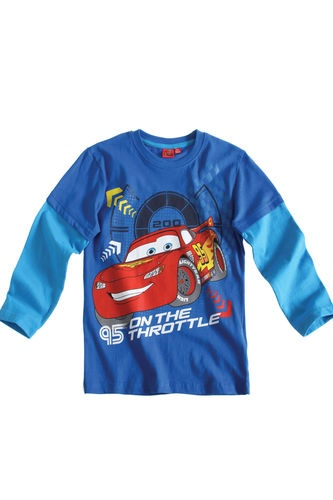 $11.50  BOY'S KIDS DISNEY CARS OFFICIAL LONGSLEEVE T-SHIRT Sz:Age 3-8 BLUE | eBay