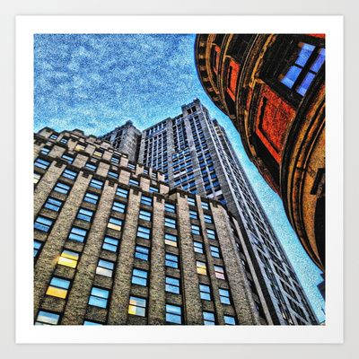 Skyrise Art Print by AngelEowyn - $17.16