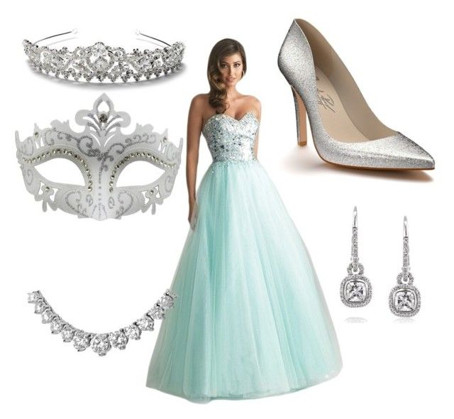 """""""Kirsten's Masquerade outfit"""" by alwaysapotter-head ❤ liked on Polyvore featuring Night Moves, Shoes of Prey, Mark Broumand and Masquerade"""