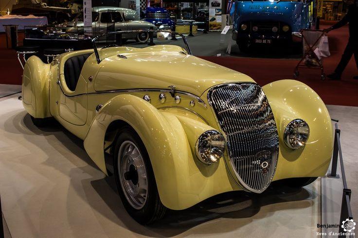 #Peugeot #402 #Darl_Mat au salon Retromobile à #Paris Reportage complet : http://newsdanciennes.com/2016/02/08/grand-format-retromobile-2016/ #Vintage #VintageCar
