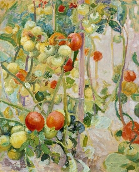 """"""" Pekka Halonen (Finnish, 1865-1933), Tomatoes, 1913. Oil on cardboard, 42 x 51 cm. Ateneum Taidemuseo, Helsinki. """""""
