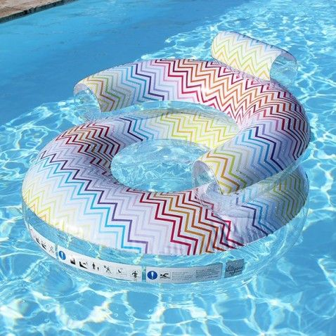 Fauteuil gonflable piscine Zig Zag
