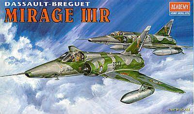 Dassault Mirage IIIR. Academy, 1/48, injection, No.12248. Price: 6,53 GBP.