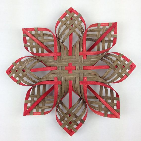 Lg Woodland Woven Star Ornament Snowflakes Cherokee by Baskauta27, $34.00