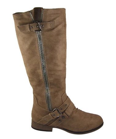 Love this Taupe Zip Chapter Boot on #zulily! #zulilyfinds