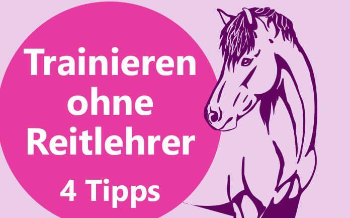 Trainieren ohne Reitlehrer ist nicht immer einfach! Ich gebe Dir im Artikel 4 Tipps, wie Du trotzdem mit Deinem Pferd erfolgreich arbeiten kannst.