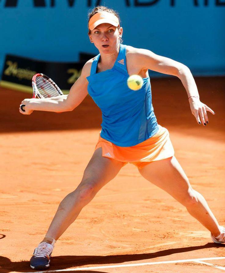 5/9/14 Simona Halep Into Madrid Open 2014 SFs! ... #4-Seed Simona only needed 60 mins to def. #11-Seed Ana Ivanovic 6-2, 6-2 to advance.