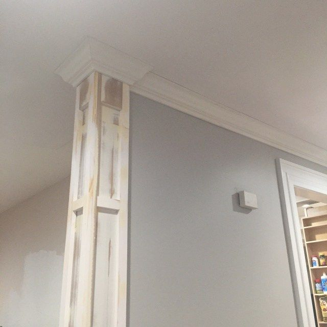 Decorative Column And Crown Moulding - Day 27