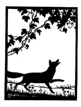 le renard et les raisins fable en ombres chinoises theatre d`ombres silhouettes marionnettes