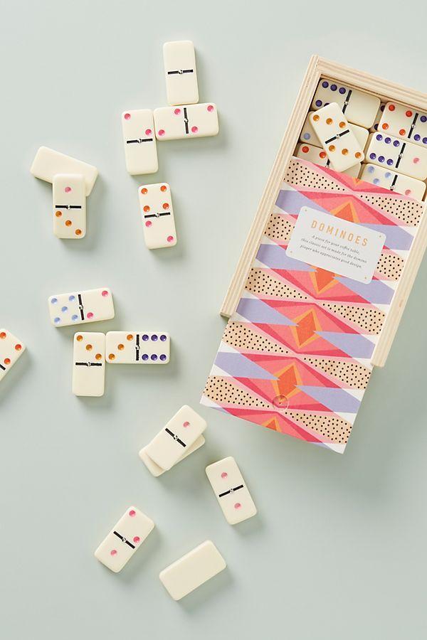 Sunbeam Domino Set Dominoes, Glass Domino Set