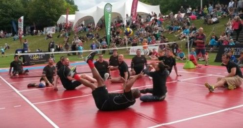 Volleyball Takes Centre Stage at Vitality SportFest 2015. Spot the  Multisport Base in use? Visit http://www.bishopsport.co.uk/volleyball-posts-nets/multisport-base.html to find out more!