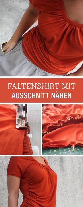Nähanleitung für ein einfaches Faltenshirt / diy sewing tutorial: easy shirt via DaWanda.com