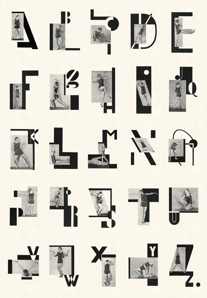 .: Graphic Design, Jazz Age Alphabet, Milca Mayerová, Art, Typography, Type, Letters, Dancer Milca