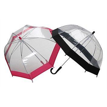 Rain Umbrellas - Plain & Patterned - Briscoes - Cloud Burst Childrens Umbrella Assorted Colours/Designs