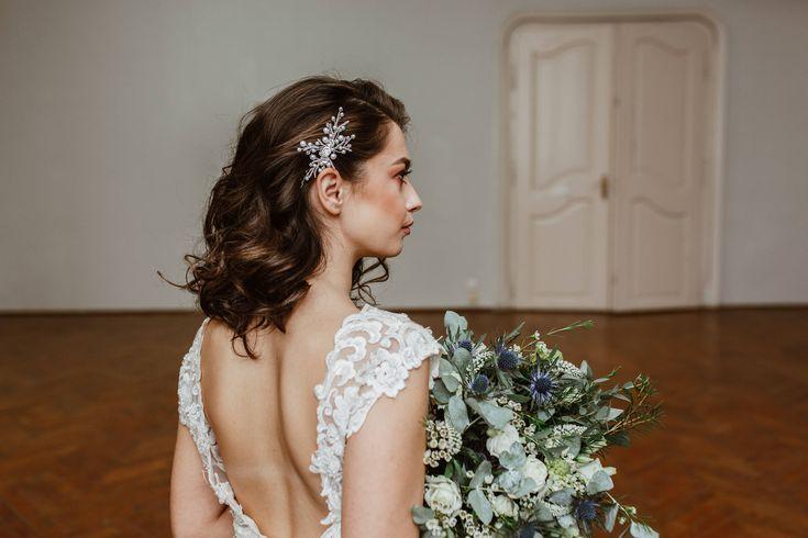 BIANCA |  Bridal Hair Comb, Silver Wedding Comb, Swarovski, Bridal Hair Comb, Bridal Accessory, Bridal Hair Accessories,