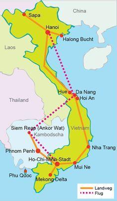 Image result for vietnam backpacker map