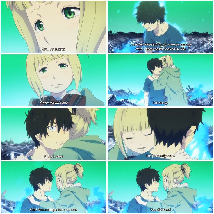 I was so focused on my own problems that I never really looked at Rin - Season 2, episode 7, #Ao no Exorcist #Blue Exorcist