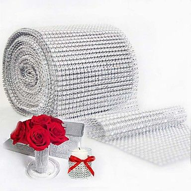 10yard+900cm+Mesh+Trim+Bling+Diamond+Wrap+Cake+Roll+tulle+Crystal+Ribbons+Party+Wedding+Decoration+event+party+supplies+–+USD+$+13.59