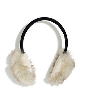 madewell faux fur earmuffs $35
