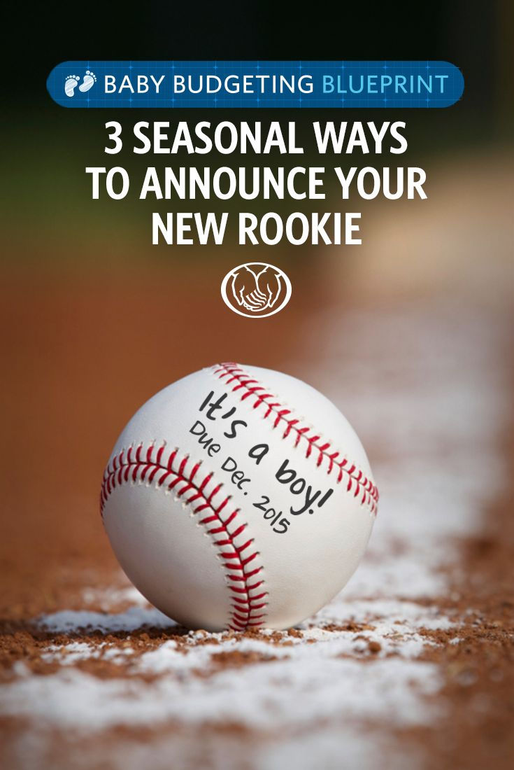 If you're a sports fan and expecting, here's a creative way to share the big news about your new baby! Use a prop, like a baseball, for your pregnancy announcement to let everyone know your little one's soon-to-be favorite sport.