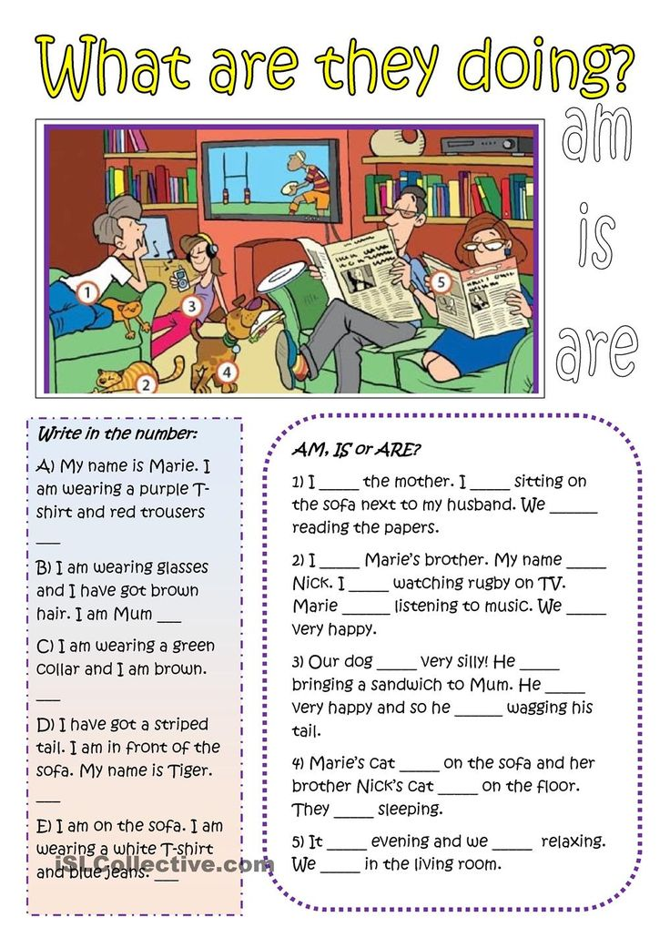 Practice with the present continuous tense