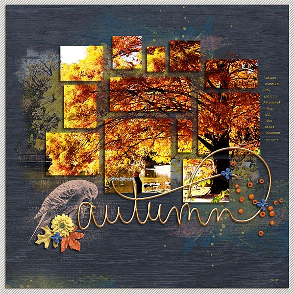 Autumn Gold by NancyBeck at the Lilypad #digitalscrapbooking