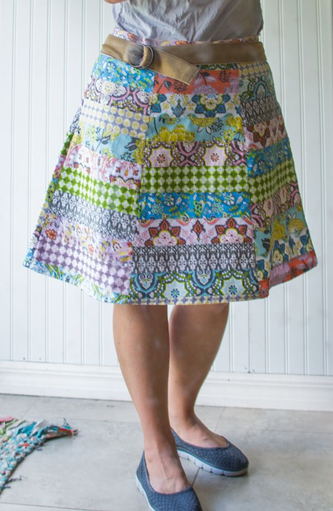 DIY Patchwork Skirt — SewCanShe | Free Daily Sewing Tutorials